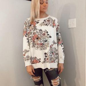 FREE PEOPLE Floral Sweatshirt